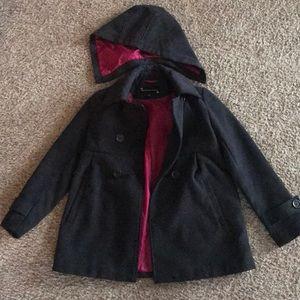 Rothschild girls pea coat with detachable hood
